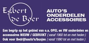 Egbert de Boer Auto's