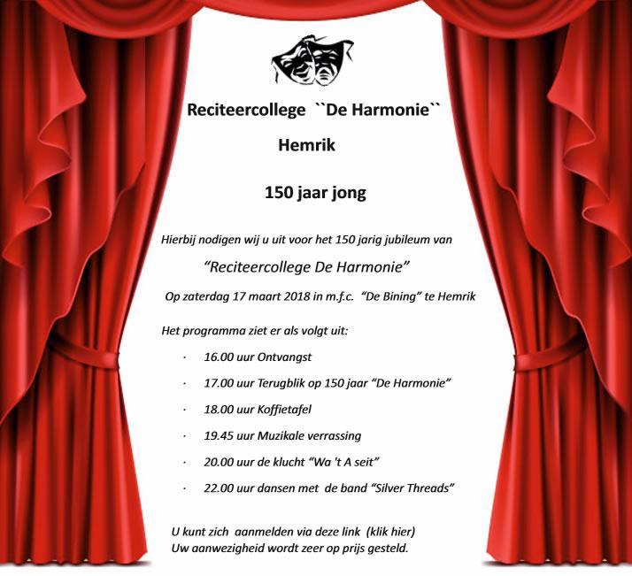De Harmonie 150 jaar